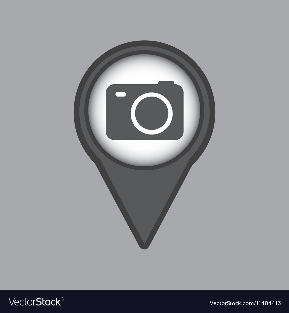 Travel concept location map camera design graphic vector image