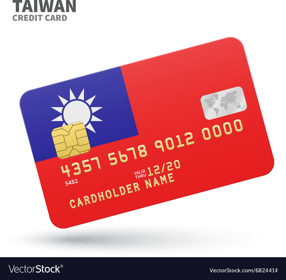 V card background images - Credit Card With Taiwan Flag Background For Bank Vector Image