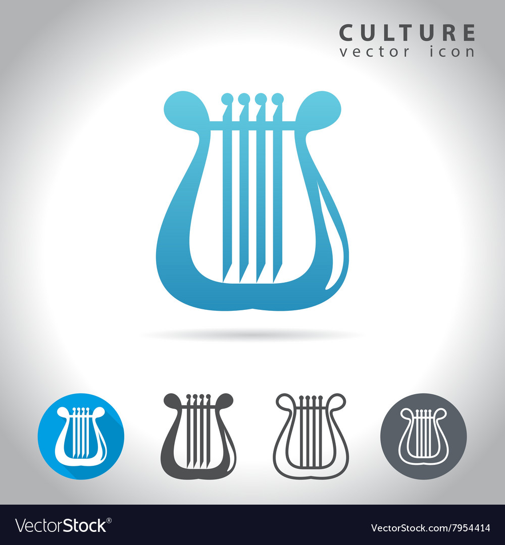Culture blue icon vector image