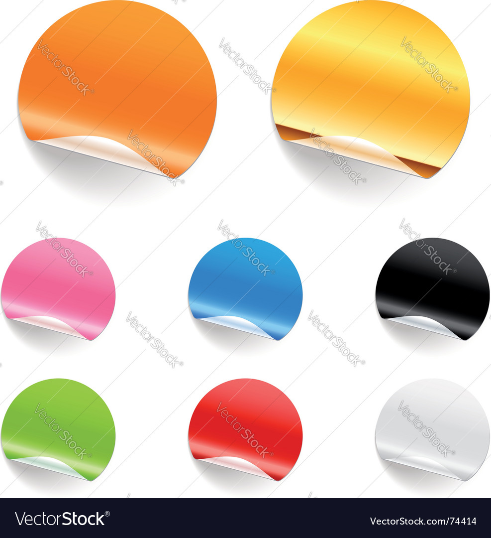Round stickers vector image