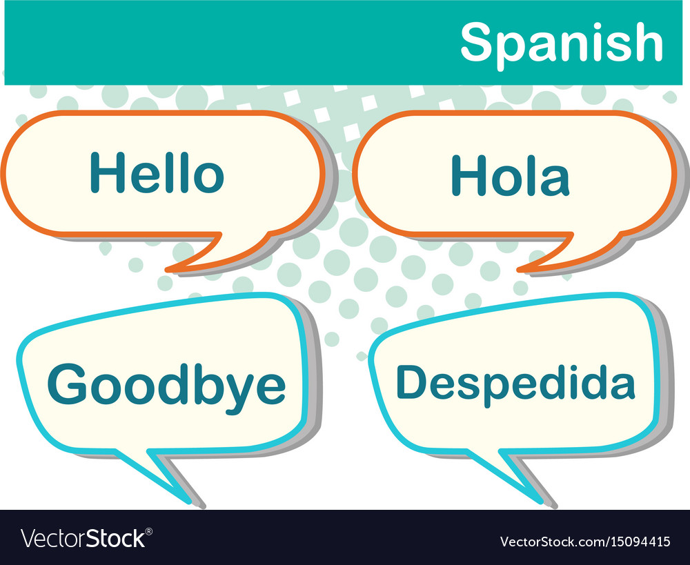 Speech bubbles with spanish words vector image