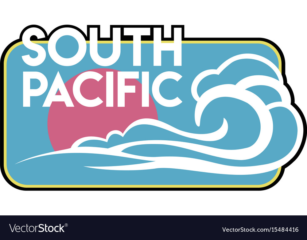 Vintage surf badge vector image