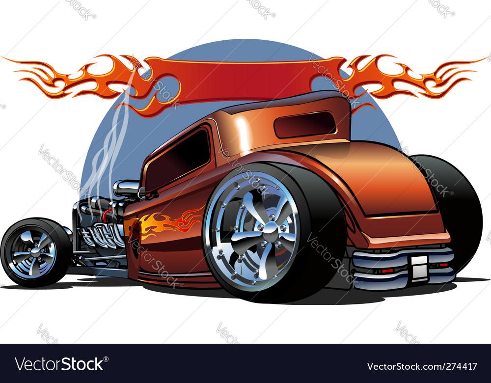 Cartoon hotrod vector image
