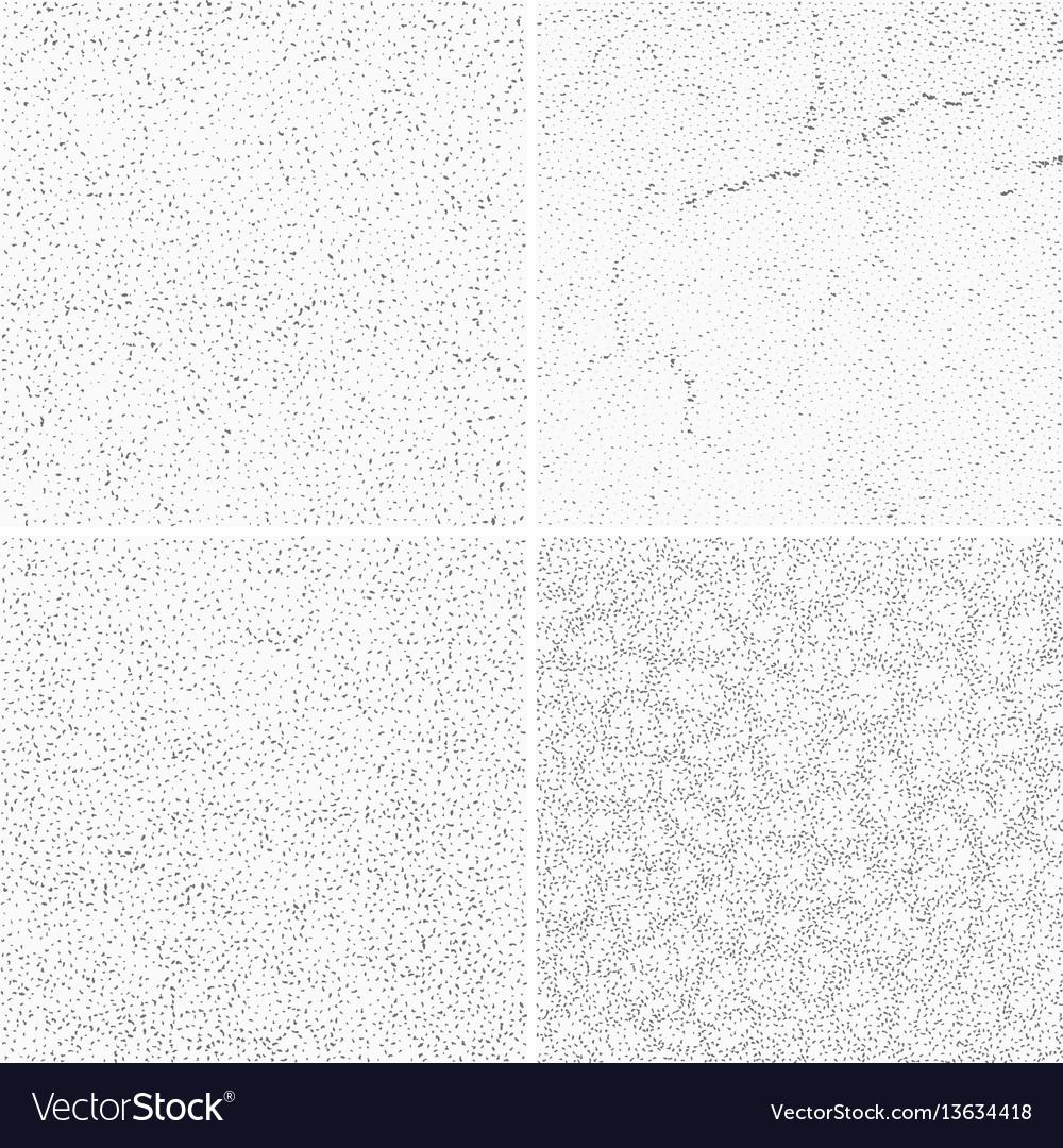 Grey subtle dotted grunge textures vector image