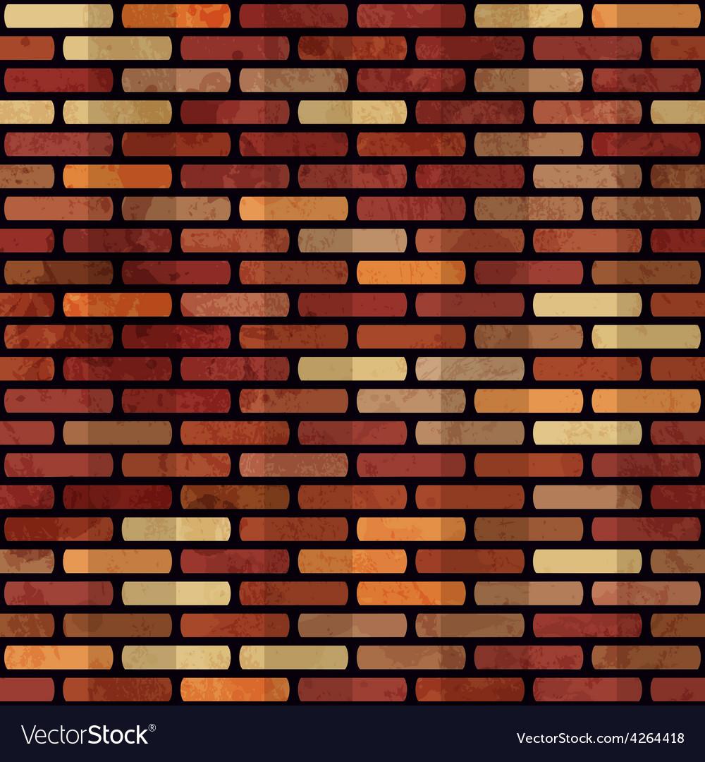 Grunge red brick wall seamless vector image