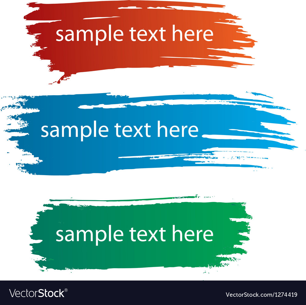 Color ink streaks of paint stains vector image