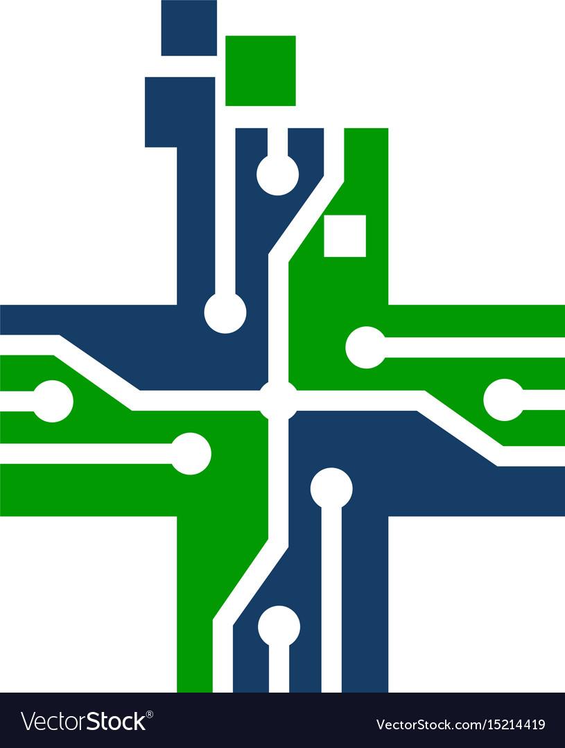 Global digital healthcare vector image