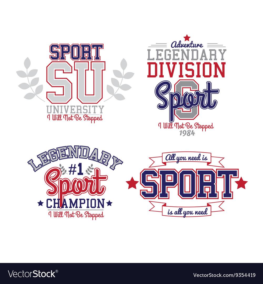 Sport Badge Set vector image