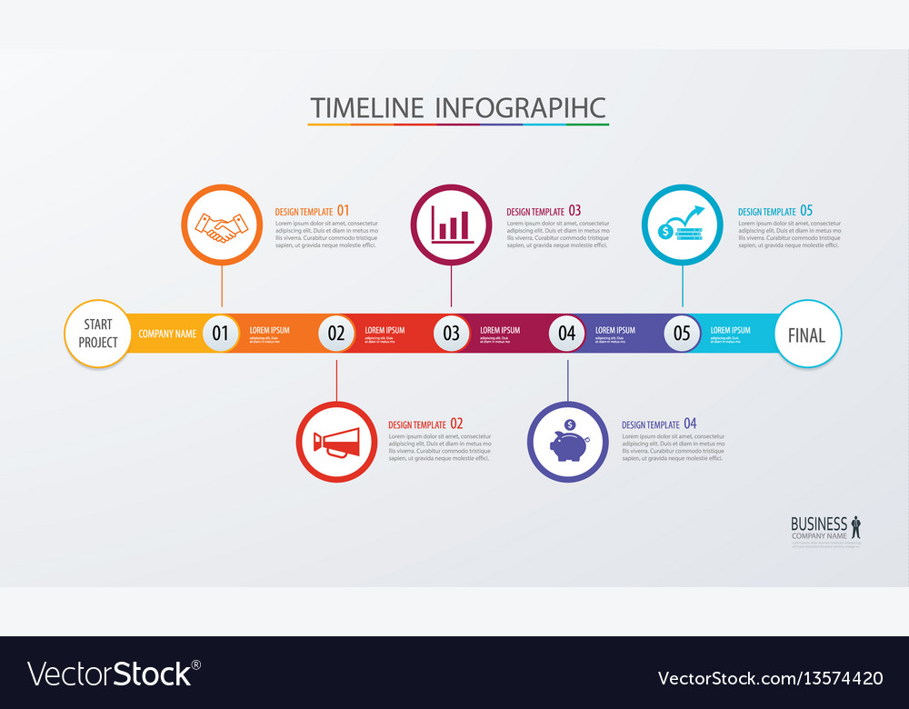 Infographic timeline template business concept vector image