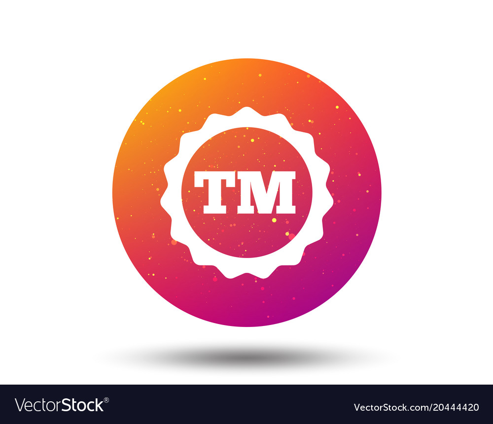 Registered tm trademark icon intellectual work vector image biocorpaavc Choice Image