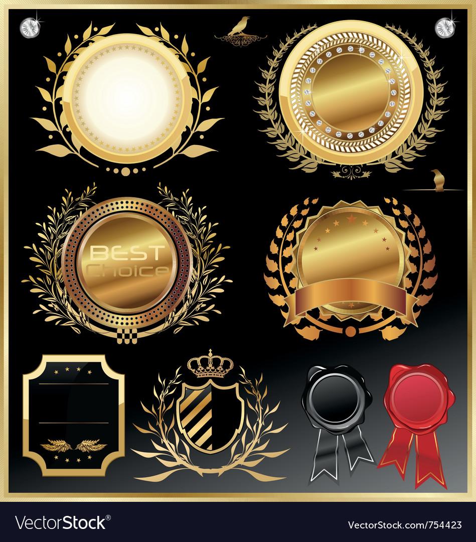 Elegant luxury labels vector image