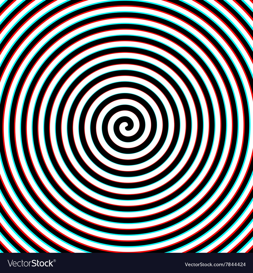 3d effect hypnosis spiral vector image