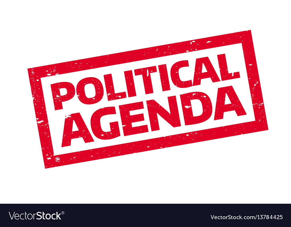 Political agenda rubber stamp vector image