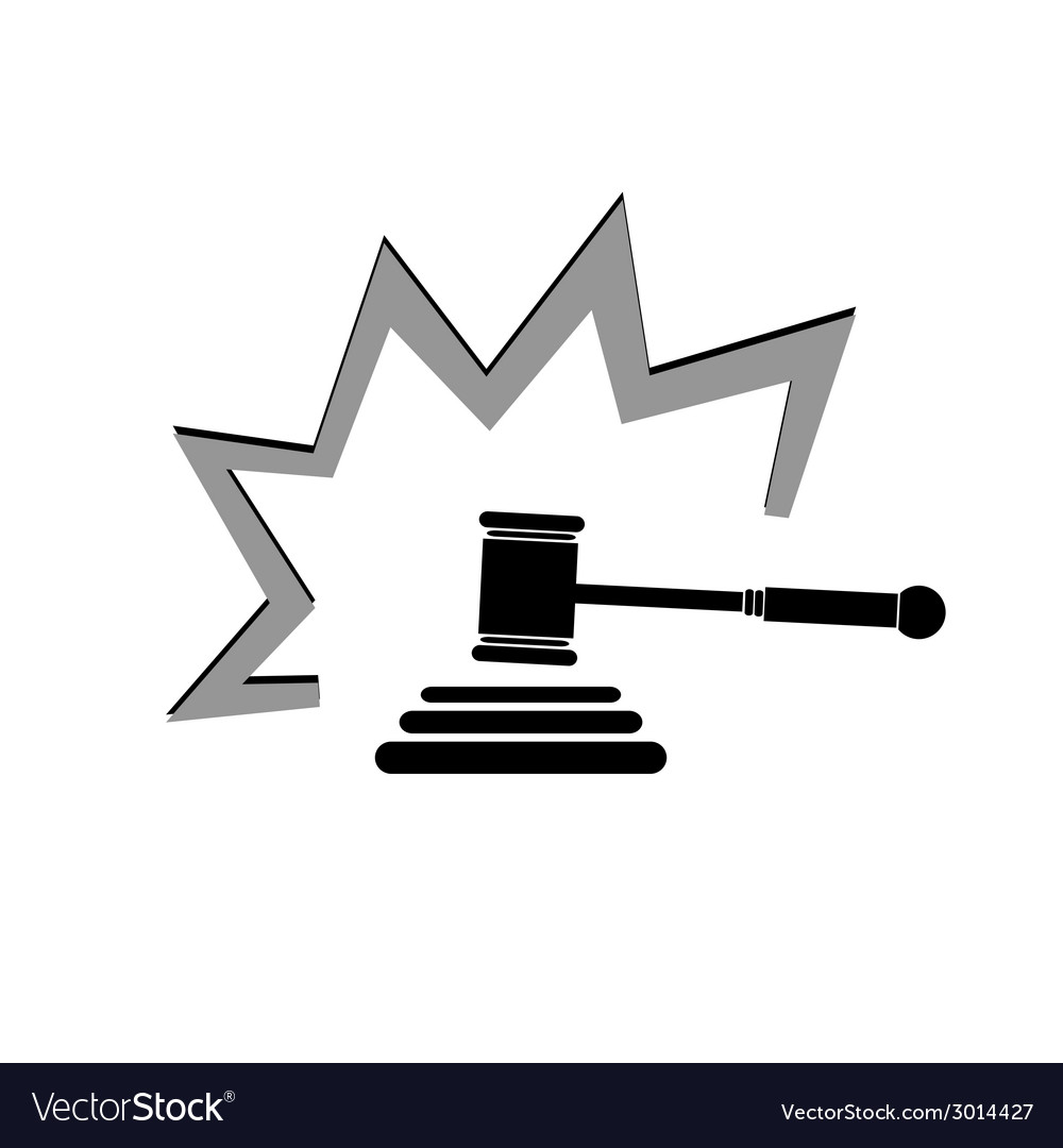Judge hammer vector image