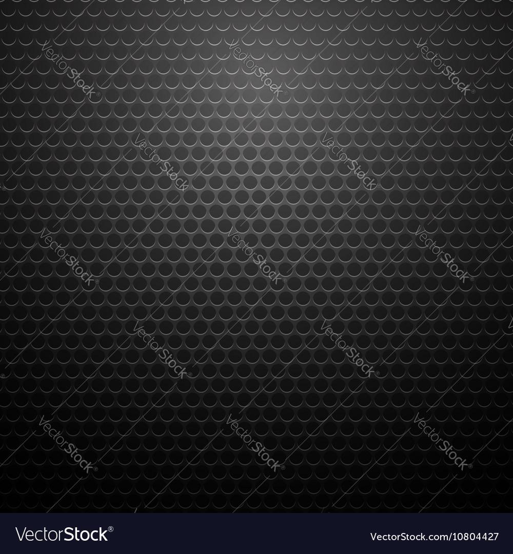 Metallic Perforated Texture Dark Carbon Pattern vector image