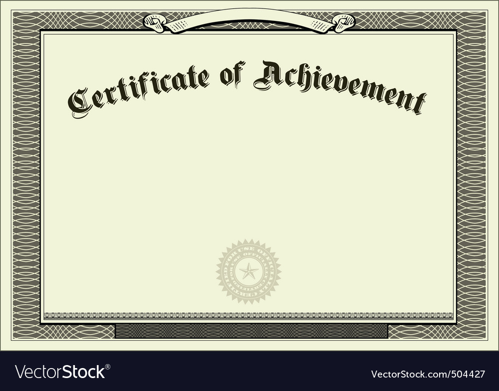 Vector blank certificate background Royalty Free Vector