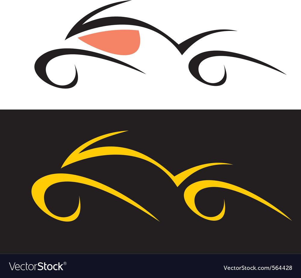 Motorcycle logo vector image