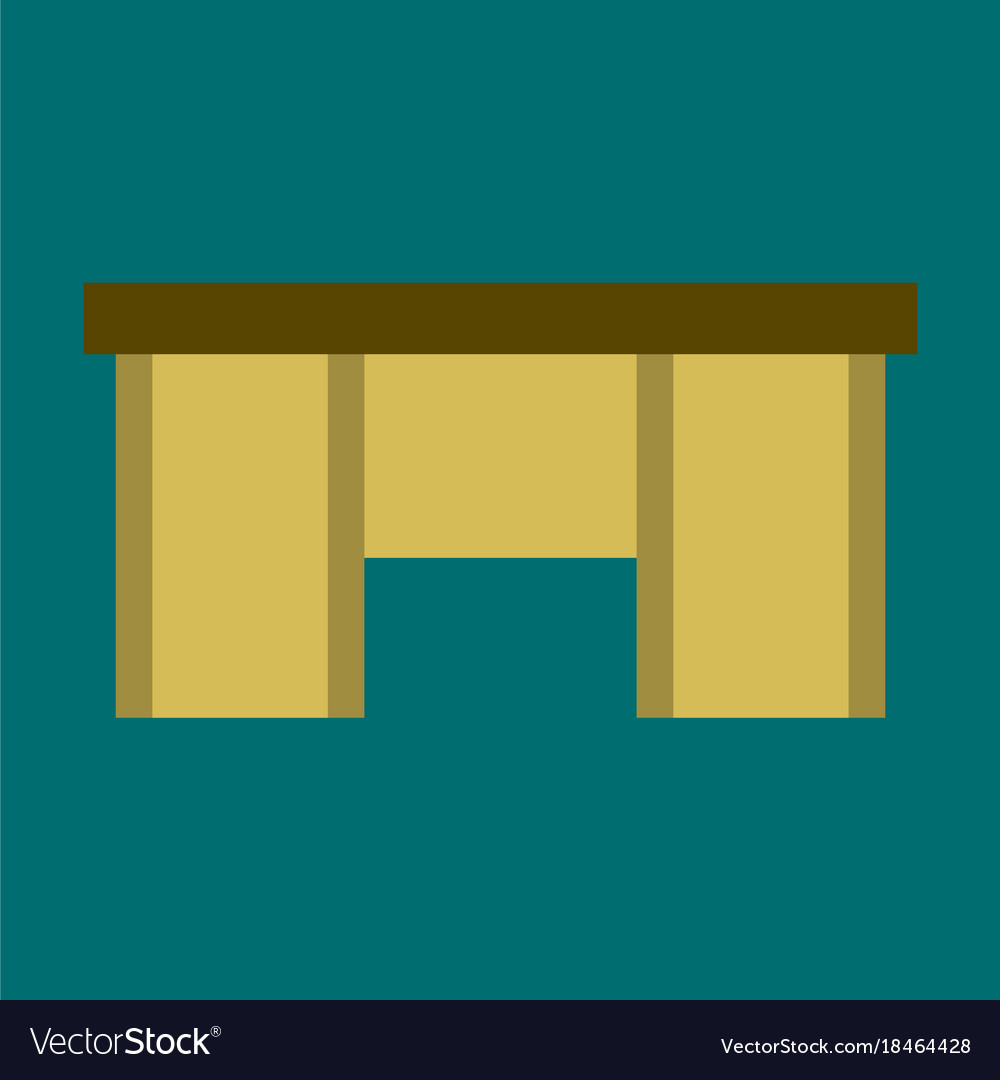 office desk isolated icon