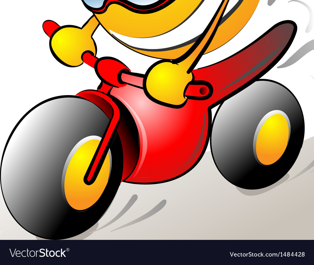 Funny bike rider vector image