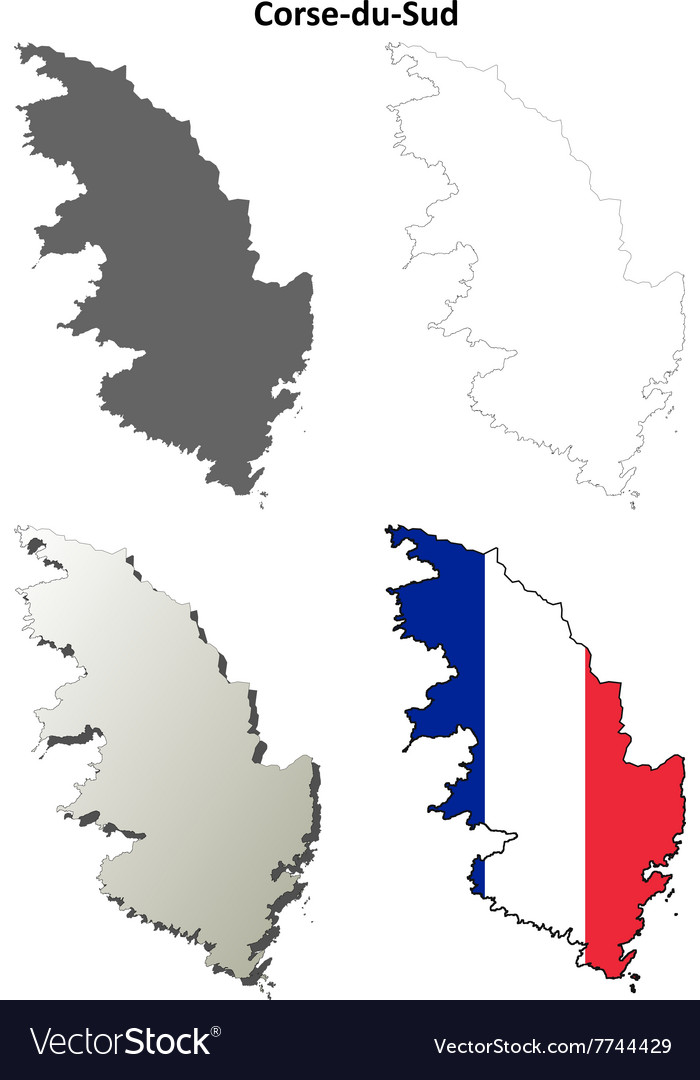 Corsica Map Vector Images 65