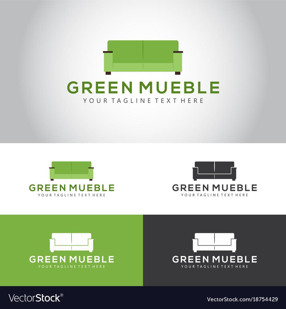 Green mueble logo royalty free vector image vectorstock for Mueble vector