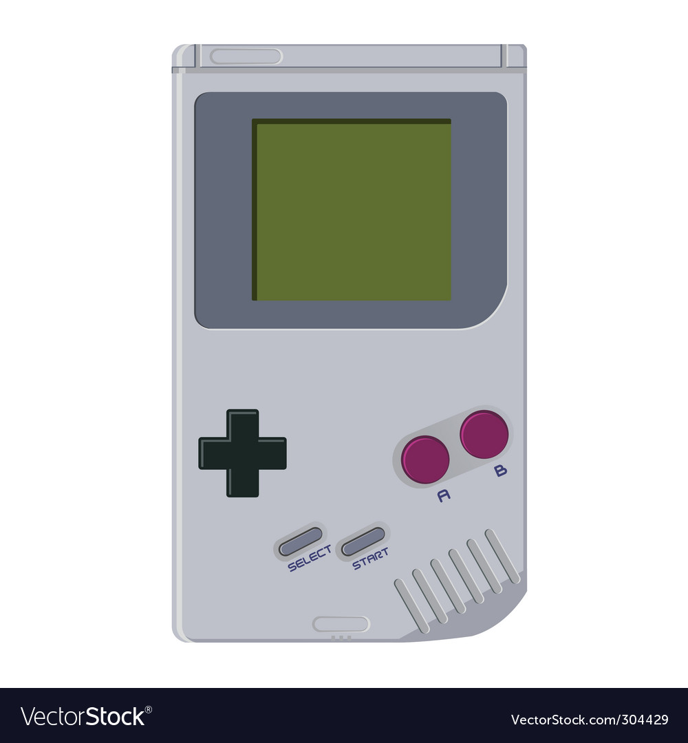 Handheld video game device vector image
