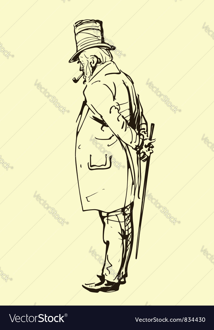Old gentleman Vector Image