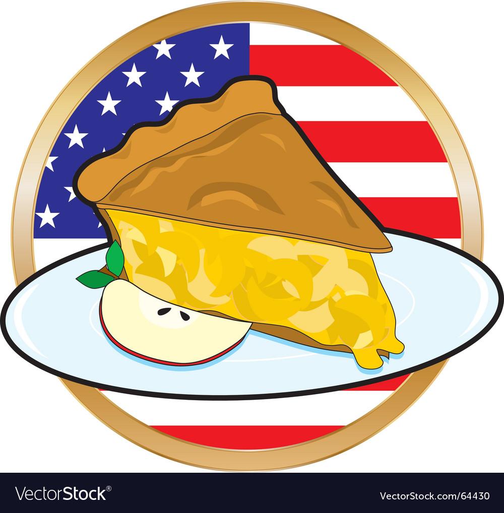 Apple pie american flag vector image