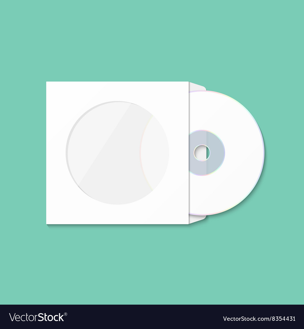 CD cover template DWD Box for CD-R Royalty Free Vector Image