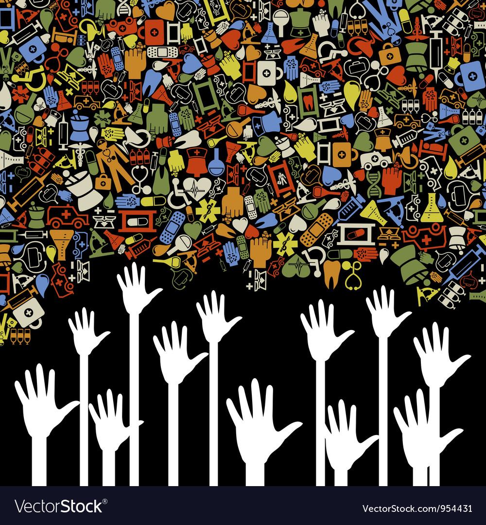 Hand medicine vector image