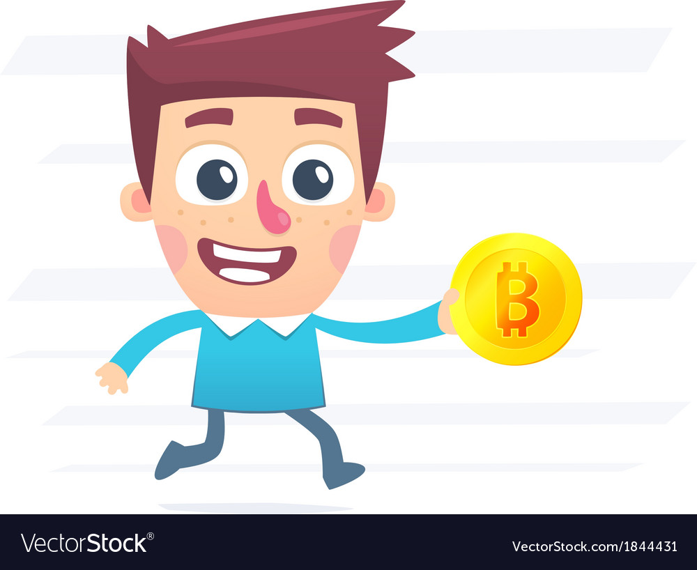 Shopping for Bitcoin vector image