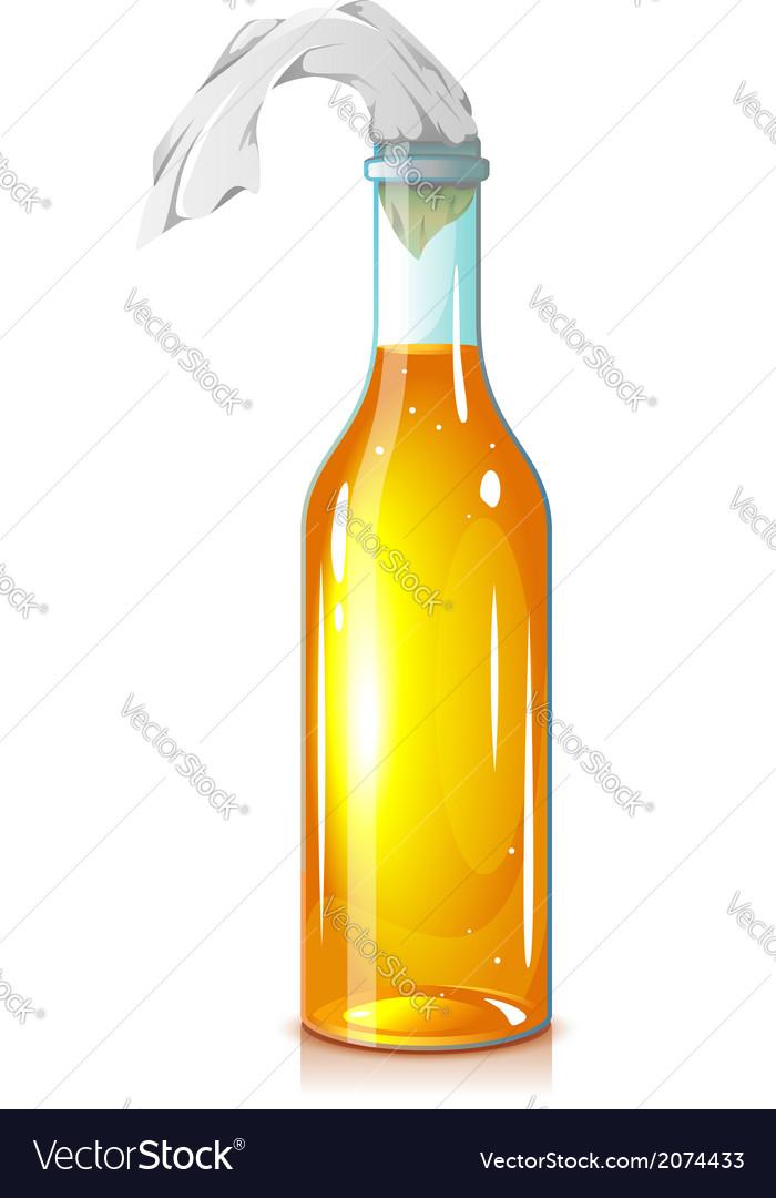 Molotov cocktail vector image