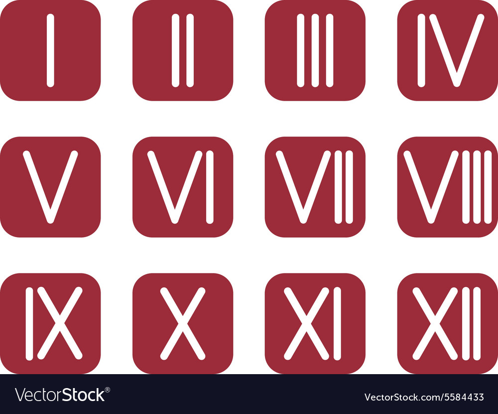 Set roman numerals 1 12 icon royalty free vector image set roman numerals 1 12 icon vector image thecheapjerseys Image collections