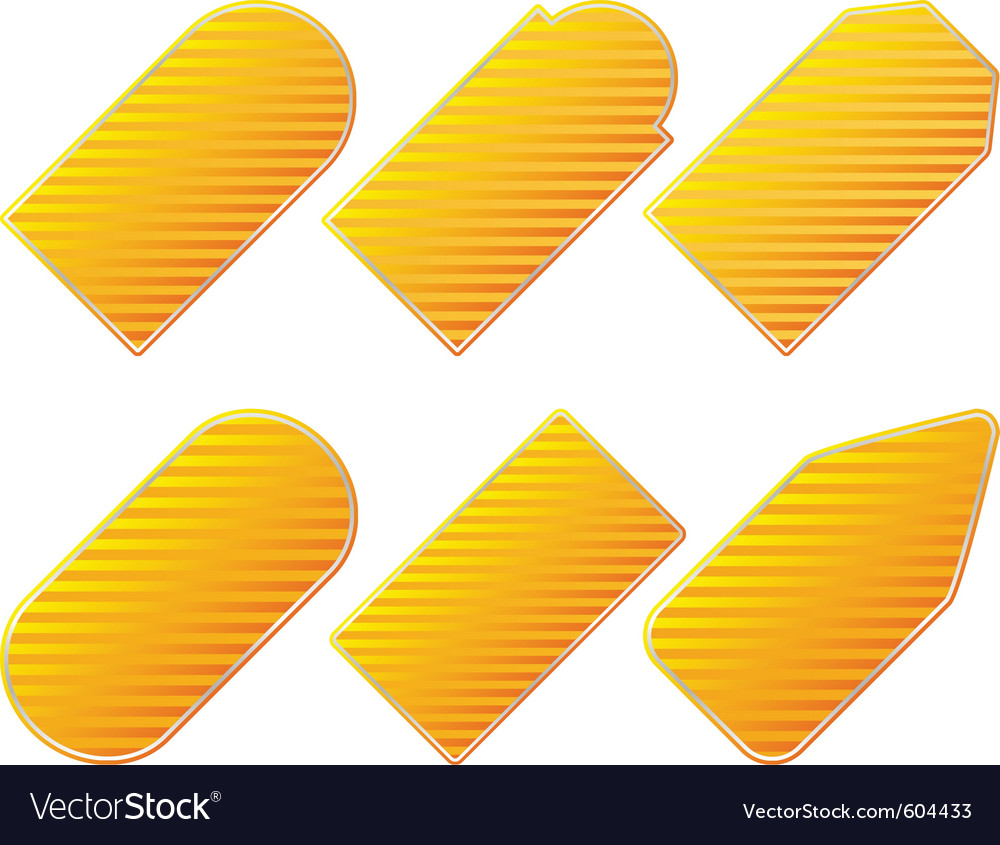 Yellow price tags vector image