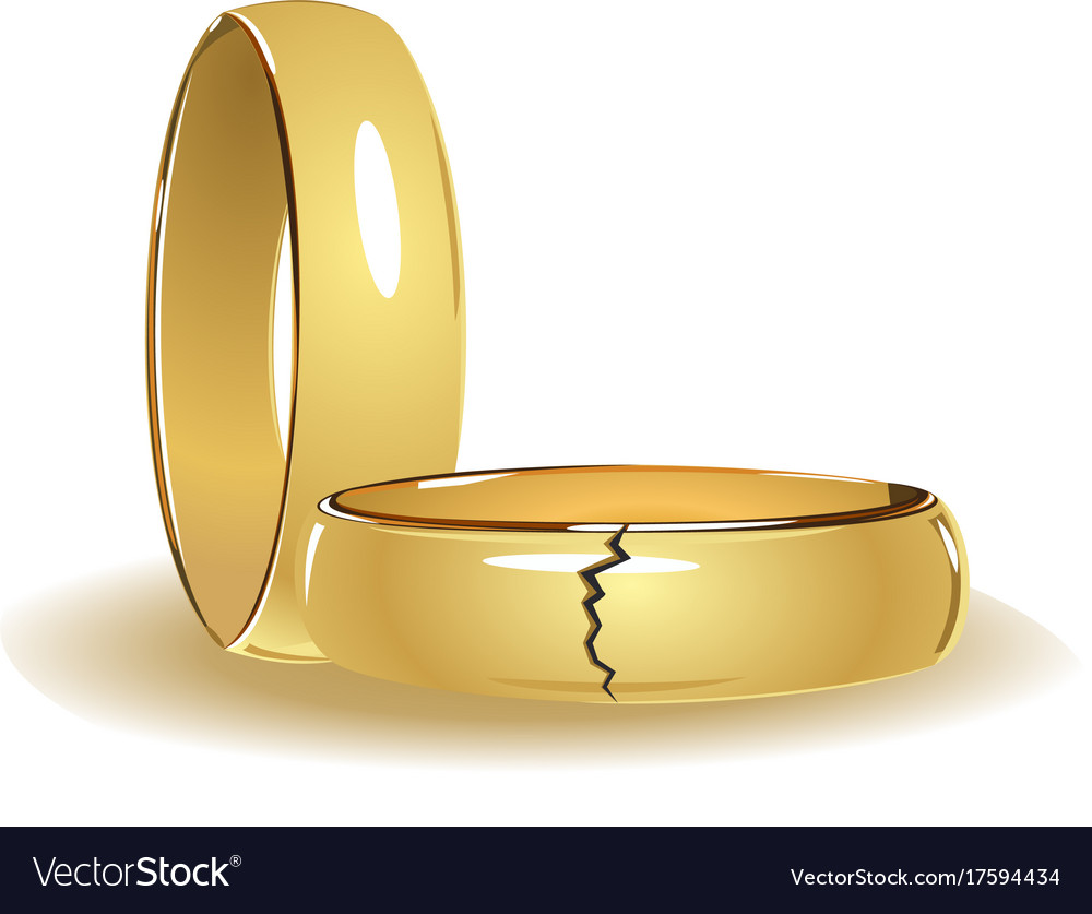 Broken Wedding Rings Vector Image