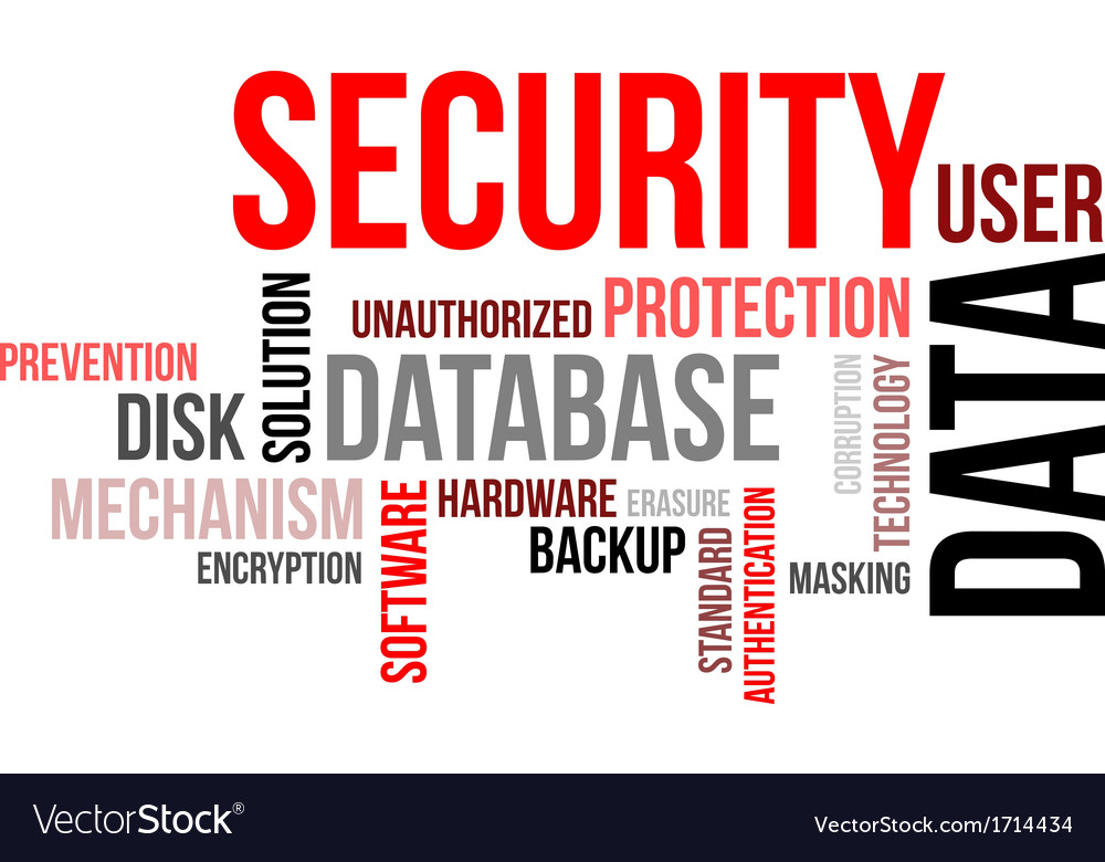 Word cloud data security vector image