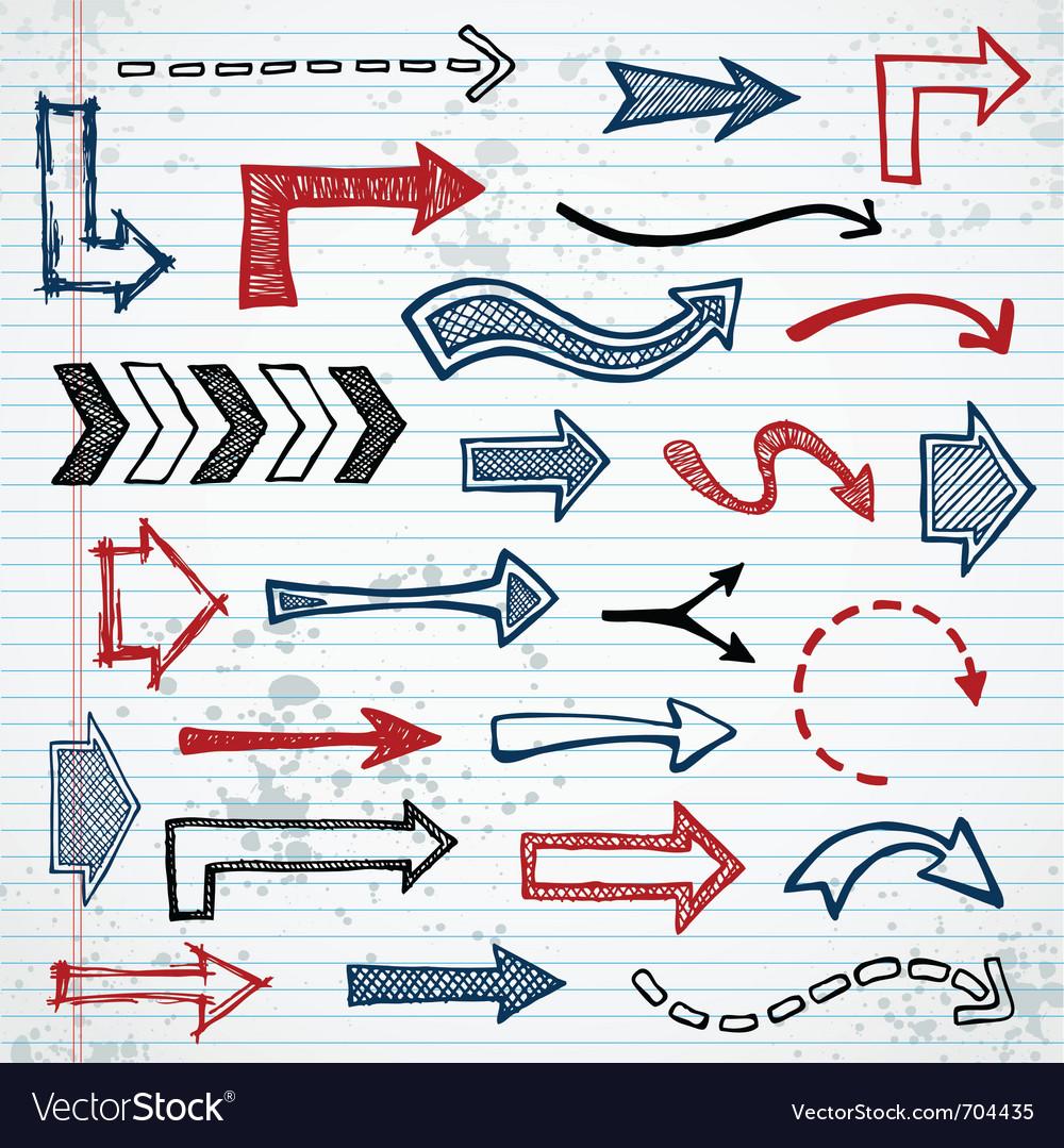 Sketchy arrows vector image