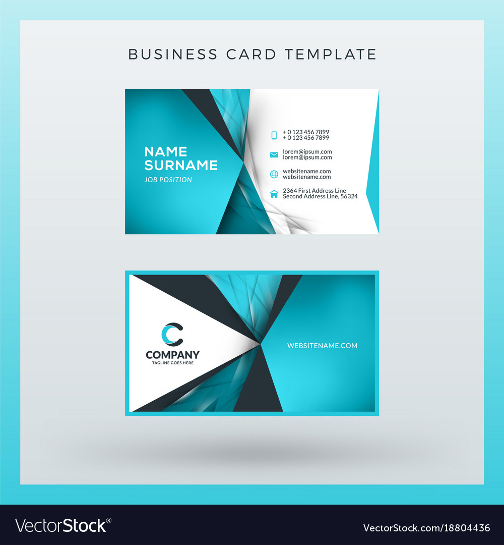 Double sided horizontal business card template vector image cheaphphosting Images