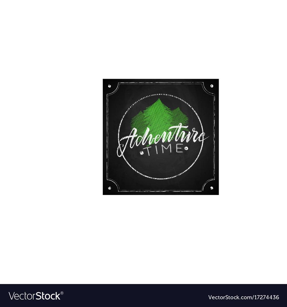 Retro emblem adventure vector image