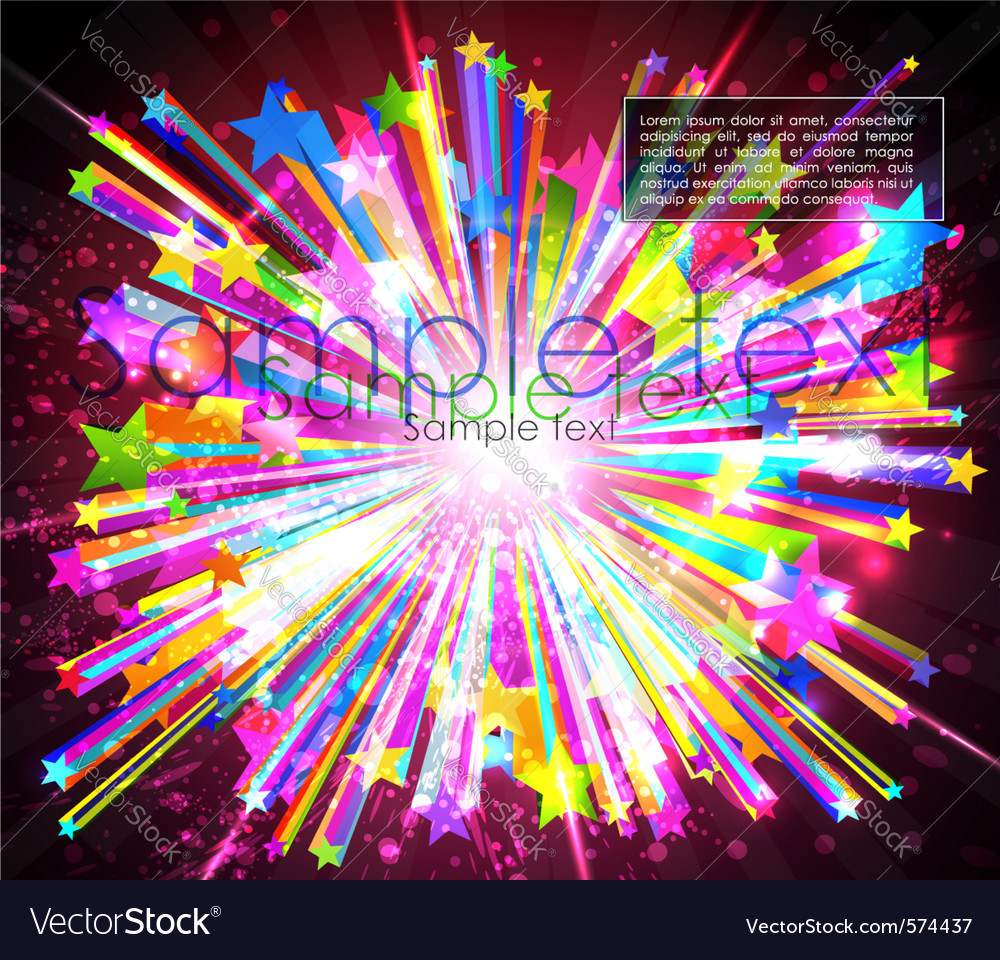 Abstract starburst vector image