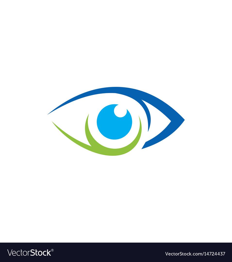 Eye vision icon logo vector image