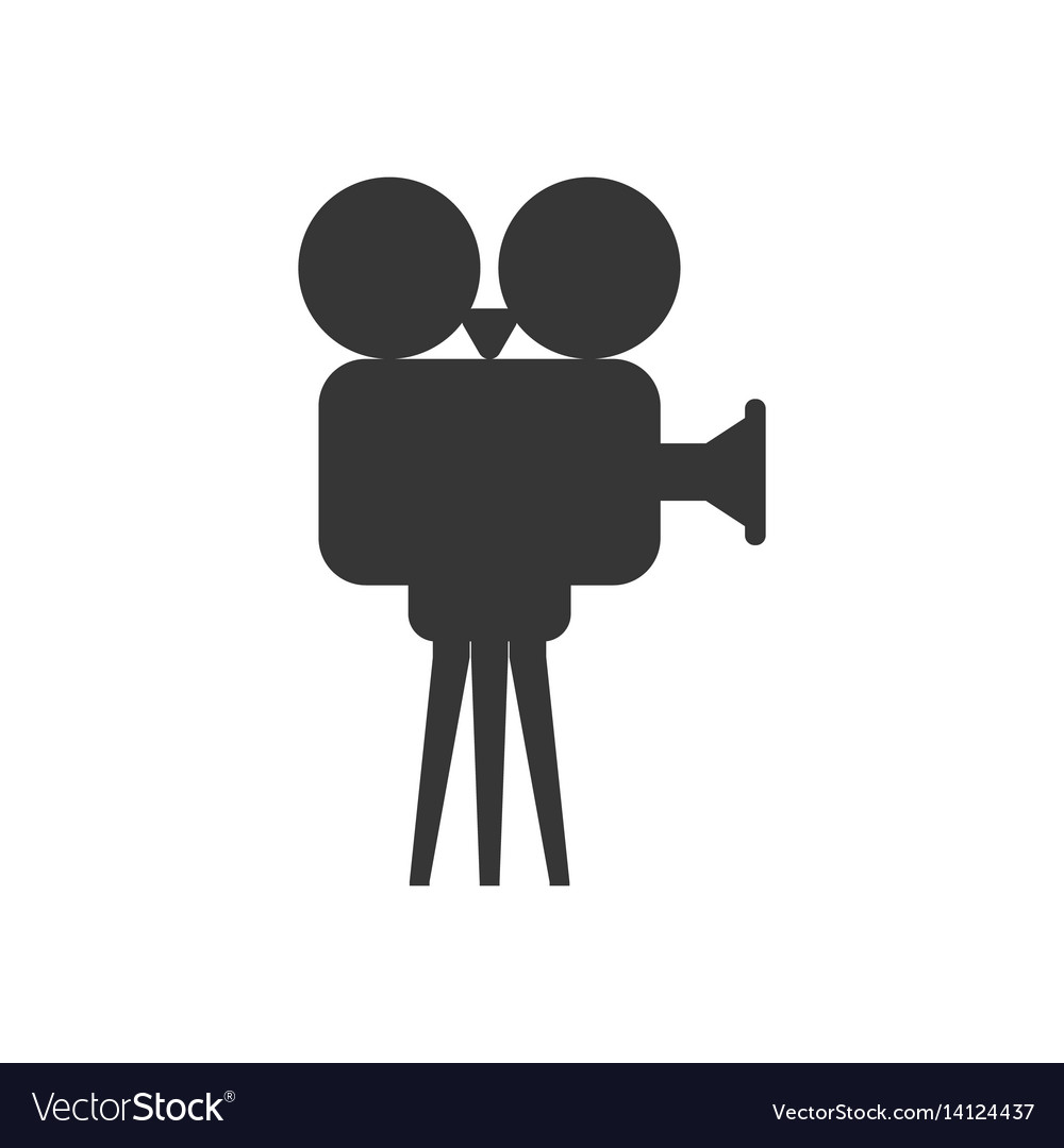 Video projector silhouette vector image