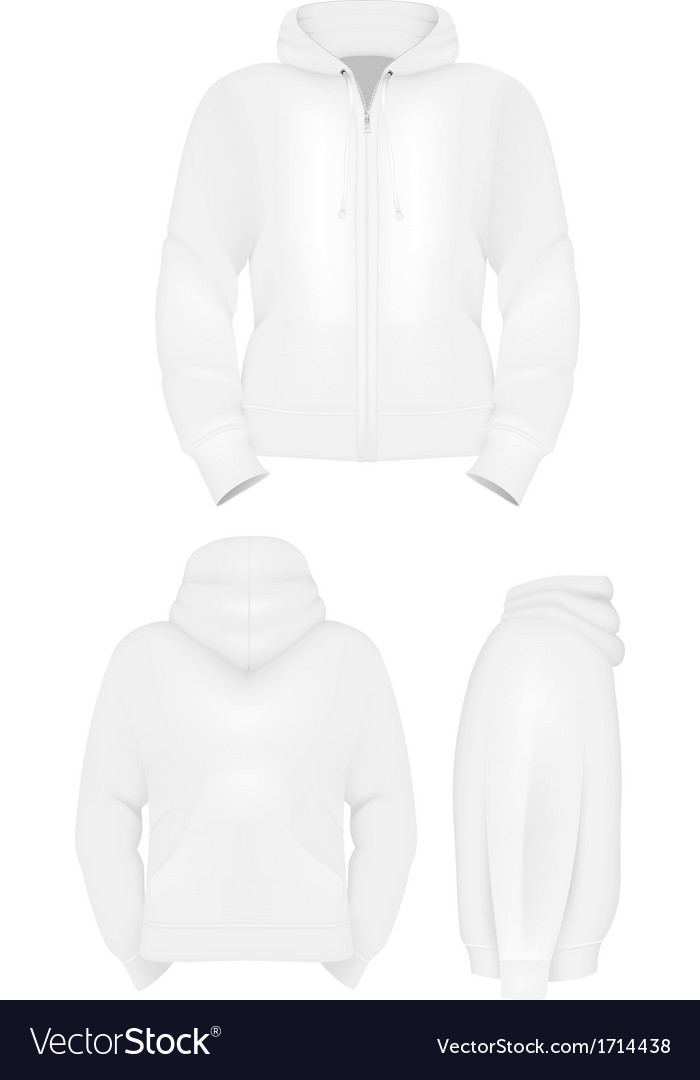 Plain training hoodie template vector image