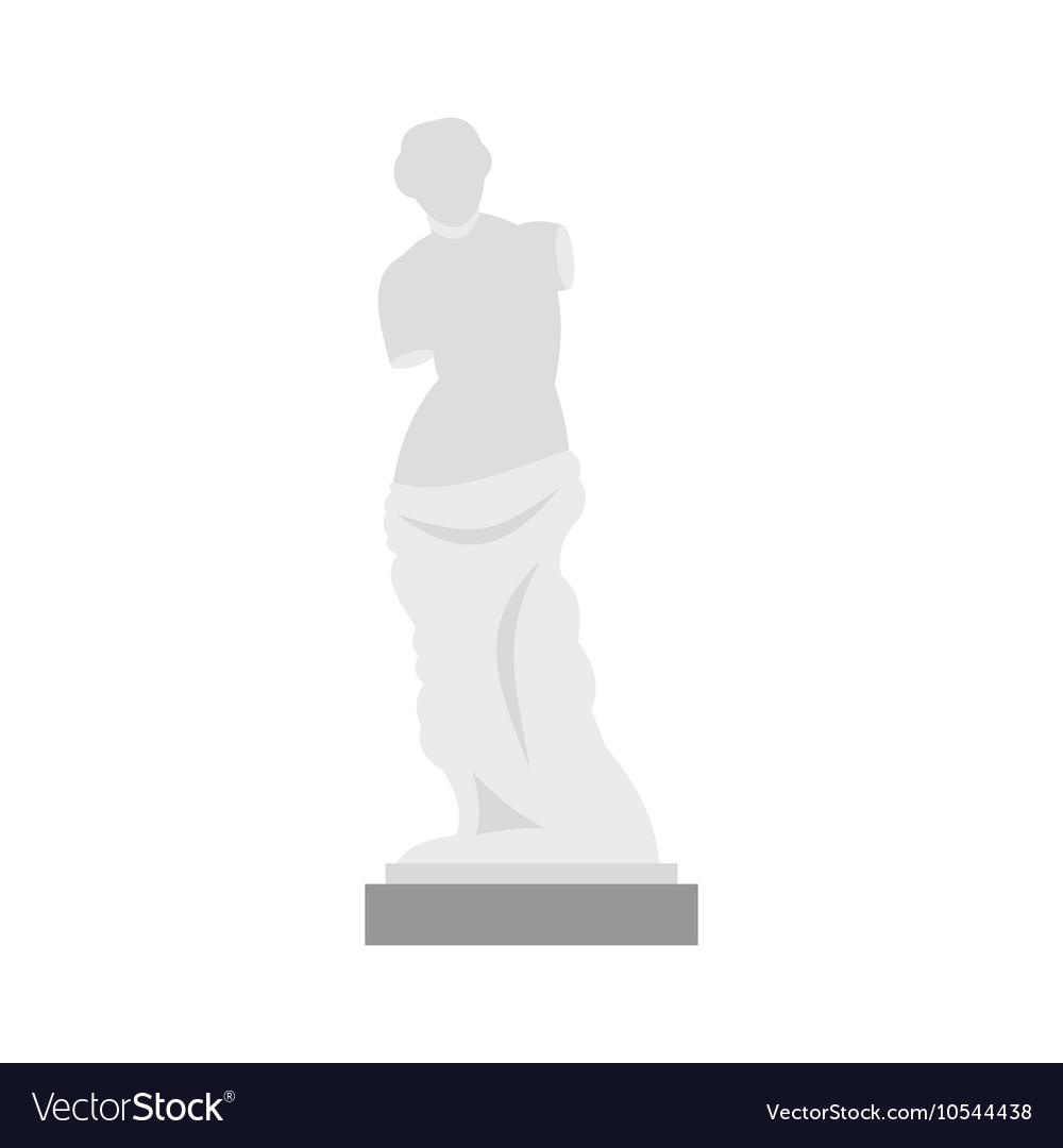 Statue of Venus de Milo icon flat style vector image