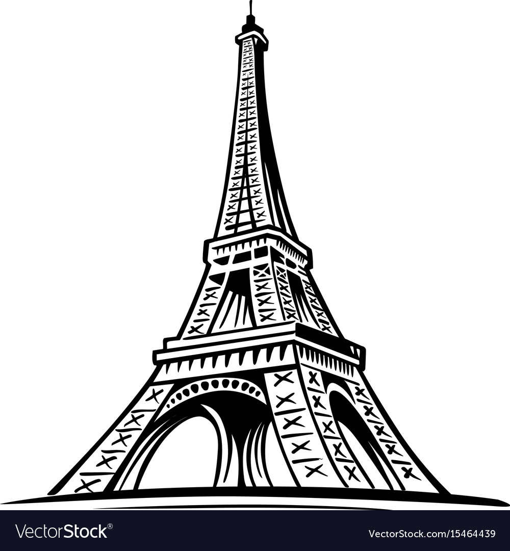 Eiffel tower paris symbol france vector image