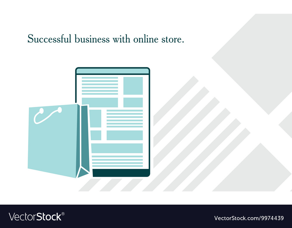 On website online store vector image