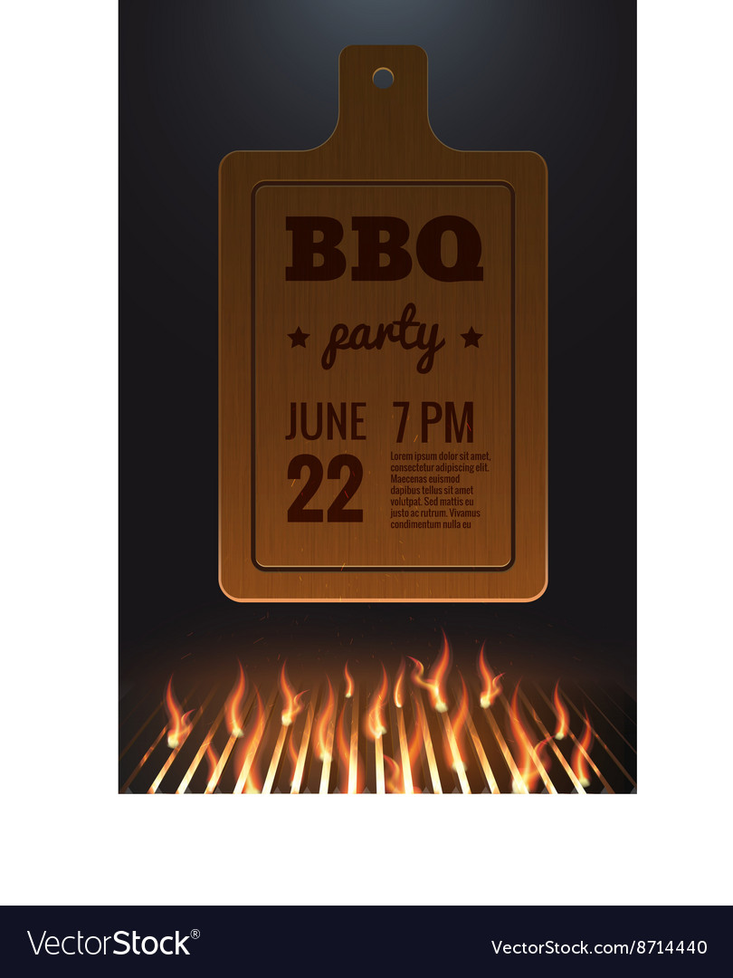 Bbq fire grille eps 10 vector image