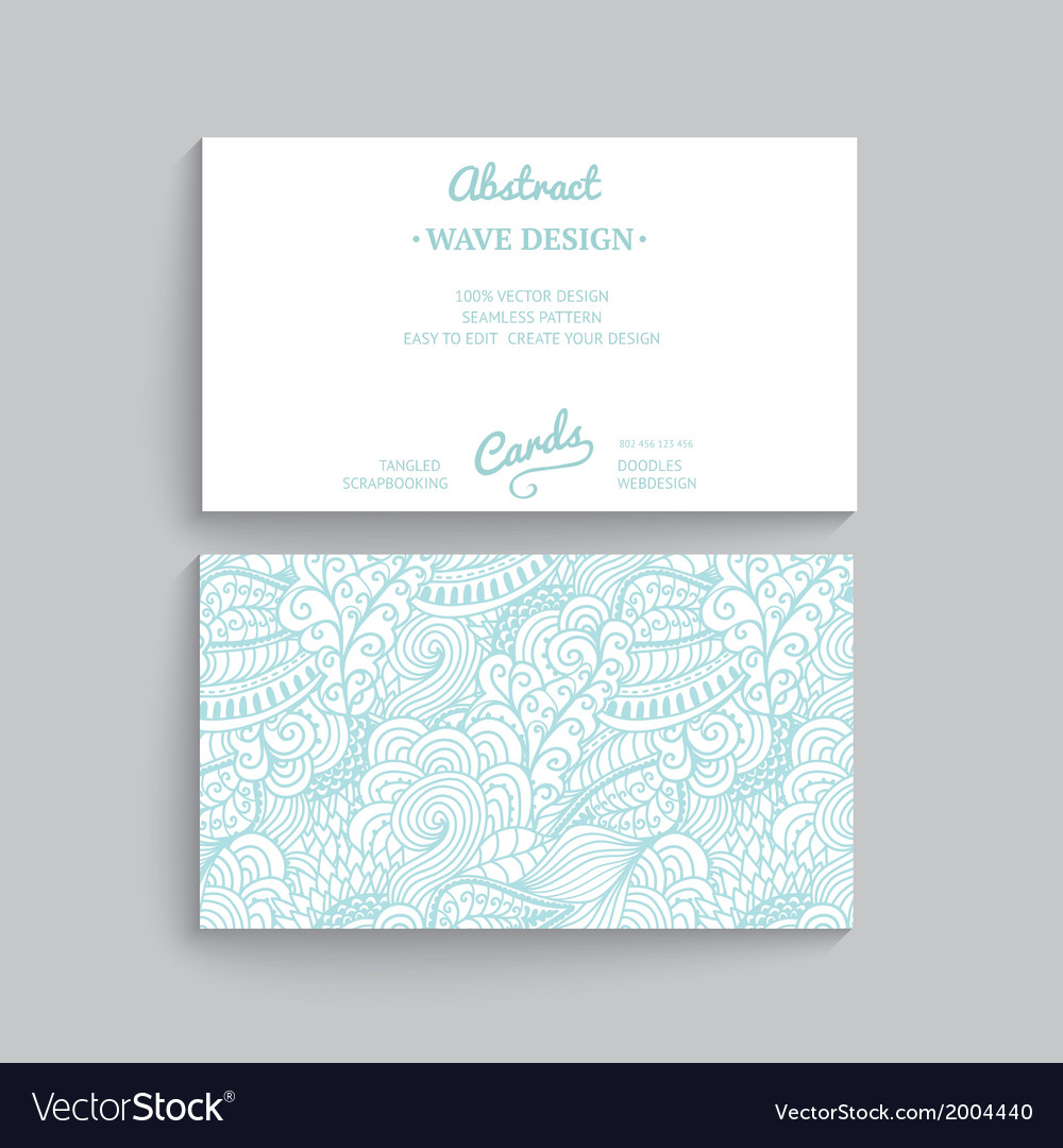 Simple business card template with decorative vector image alramifo Images