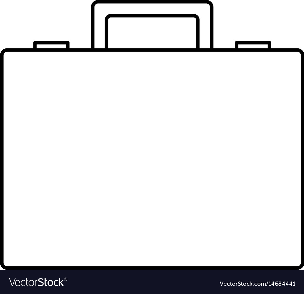 First aid case equipment emergency medical line vector image