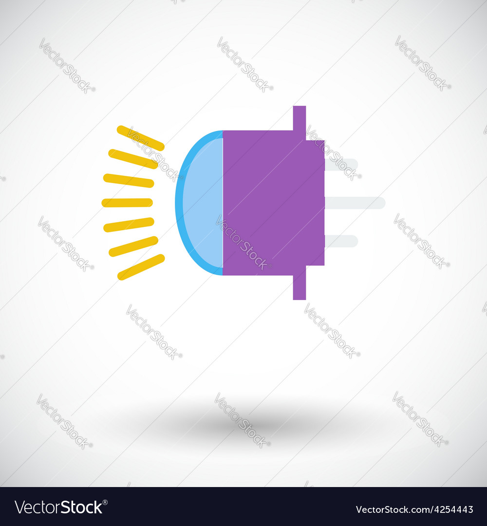 Xenon car lamp flat icon Royalty Free Vector Image for Car Lamp Vector  186ref